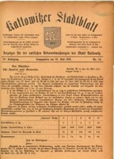 Kattowitzer Stadtblatt, 1911, Jg. 4, nr55