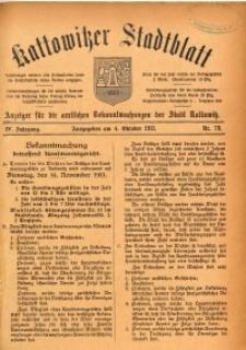 Kattowitzer Stadtblatt, 1911, Jg. 4, nr79