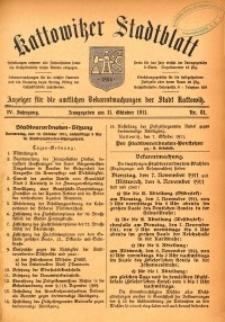 Kattowitzer Stadtblatt, 1911, Jg. 4, nr81