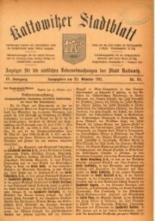 Kattowitzer Stadtblatt, 1911, Jg. 4, nr85