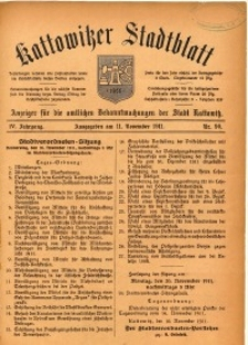 Kattowitzer Stadtblatt, 1911, Jg. 4, nr90