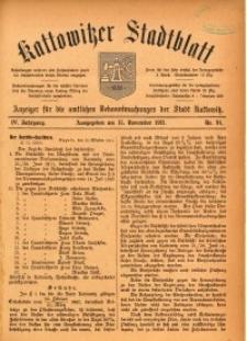 Kattowitzer Stadtblatt, 1911, Jg. 4, nr91