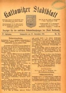 Kattowitzer Stadtblatt, 1911, Jg. 4, nr94