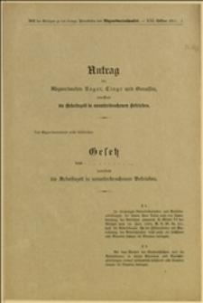 Antrag der Abgeordneten Reger, Cingr und Genossen, betreffend die Arbeitszeit in ununterbrochenen Betrieben. - Wien, 21.7.1911 r.