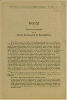 Bericht des Teuerungsauschusses über die staatlichen Zuwendungen für die Wohnungsfürsorge - Wien, 29.11.1911 r.