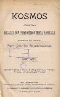 Kosmos, 1883, R. 8
