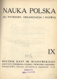 Nauka Polska, 1928, R. 9