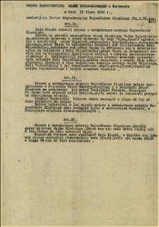 Ustawa konstytucyjna Sejmu Ustawodawczego w Warszawie z dnia 15.07.1920 r. zawierająca Statut Organiczny Województwa Śląskiego