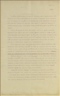 Odpis rezolucji z dnia 04.12.1912 r. górników szybu Franciszka protestujących przeciwko dążeniom wyrzucenia starego górnika Jana Husara z mieszkania służbowego z końcem października 1912 r.