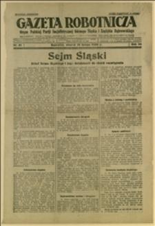 Artykuły o składzie Sejmu Śląskiego i jego działalności do chwili odwołania, oraz o 25-leciu placówki PPS w Katowicach