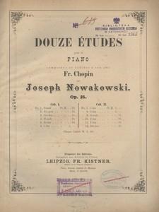 Douze études pour le piano. Op. 25