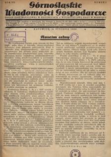 Górnośląskie Wiadomości Gospodarcze, 1930, R. 7, nr 1