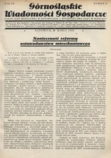 Górnośląskie Wiadomości Gospodarcze, 1930, R. 7, nr 6