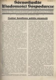 Górnośląskie Wiadomości Gospodarcze, 1930, R. 7, nr 7