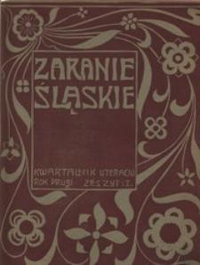 Zaranie Śląskie, 1908, R. 2, z. 1