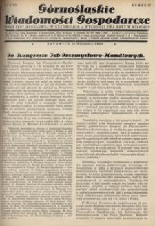 Górnośląskie Wiadomości Gospodarcze, 1930, R. 7, nr 17
