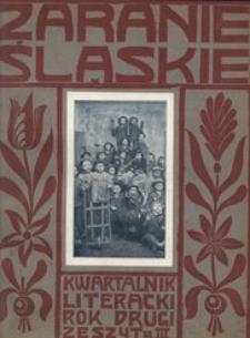 Zaranie Śląskie, 1909, R. 2, z. 3