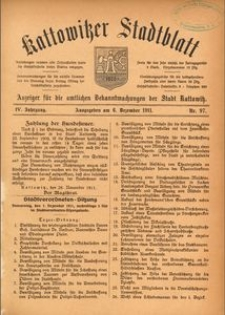 Kattowitzer Stadtblatt, 1911, Jg. 4, nr97