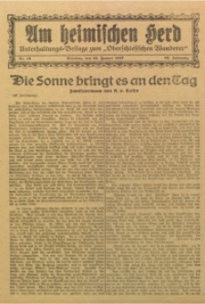 Am Heimischen Herd, 1927, Jg. 99, Nr. 19