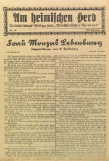 Am Heimischen Herd, 1927, Jg. 100, Nr. 121
