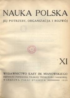 Nauka Polska, 1929, R. 11