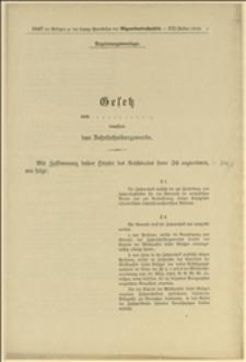 Gesetz betreffend das Zahntechnikergewerbe