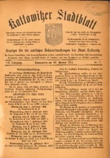Kattowitzer Stadtblatt, 1914, Jg. 7, nr7