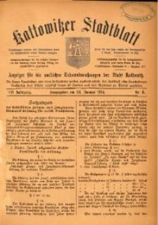 Kattowitzer Stadtblatt, 1914, Jg. 7, nr8
