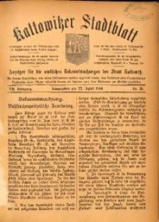 Kattowitzer Stadtblatt, 1914, Jg. 7, nr31