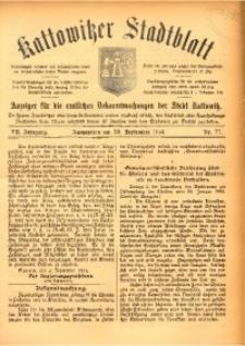 Kattowitzer Stadtblatt, 1914, Jg. 7, nr77