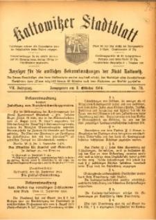 Kattowitzer Stadtblatt, 1914, Jg. 7, nr78