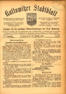 Kattowitzer Stadtblatt, 1914, Jg. 7, nr84