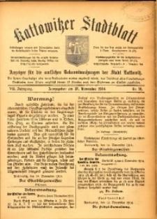 Kattowitzer Stadtblatt, 1914, Jg. 7, nr91