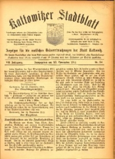 Kattowitzer Stadtblatt, 1914, Jg. 7, nr94