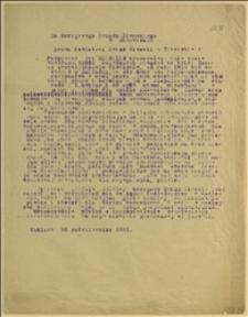 Podanie Jana Michalika z Hażlacha do Okręgowego Urzędu Ziemskiego w Katowicach przez Powiatowy Urząd Ziemski w Cieszynie, protestujące przeciw wybudowaniu przez Nadleśnictwo w Hażlachu chlewa w pobliżu jego domu - Hażlach, 30.10.1931 r.