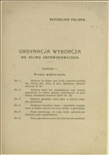 Ordynacja wyborcza do Sejmu Ustawodawczego Republiki Polskiej