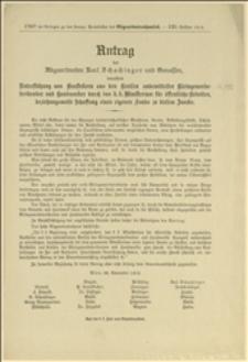 Antrag des Abgeordneten Ladislaus Čech und Genossen, betreffend die Änderung der Beschäftigung der Sträflinge - Wien, 20.11.1912 r.
