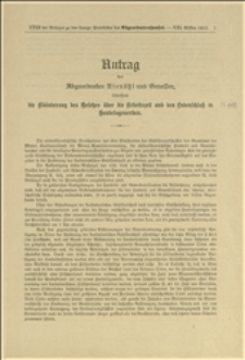 Antrag des Abgeordneten Rienössl und Genossen, betreffend die Abänderung des Gesetzes über die Arbeitszeit und den Landschluss in Handelsgewerben - Wien, 10.12.1912 r.