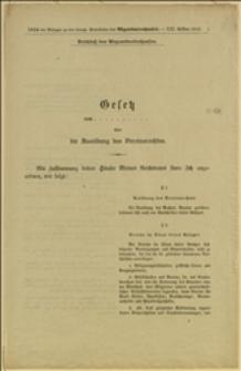 Gesetz... über die Ausübung des Verreinsrechtes - Wien, 28.12.1912 r.