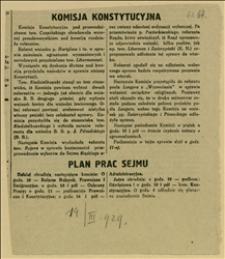 """Artykuł """"Komisja Konstytucyjna..."""" - wśród obrad wniosek T. Regera o konieczności przeprowadzenia wyborów do Sejmu Śląskiego"""