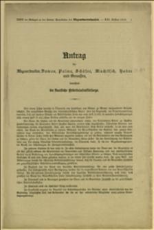 Antrag der Abgeordneten Domes, Palme, Schäfer, Muchitsch, Hudec und Genossen, betreffend die staatliche Arbeitslosenfürsorge - Wien, 12.11.1913 r.