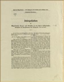 """4060/I Interpellation des Abgeordneten Reger und Genossen an den Herrn Iustizminister, betreffend die Konfiskation der Zeitschrift """"Głos Kobiet"""""""