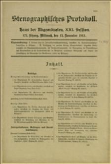 Stenographisches Protokoll