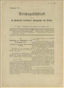 Reichsgesetzblatt für die im Reichsamte vertretenen Königreiche und Länder