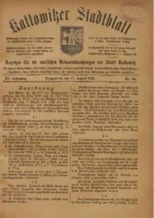 Kattowitzer Stadtblatt, 1918, Jg. 11, nr66