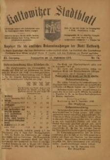 Kattowitzer Stadtblatt, 1918, Jg. 11, nr74
