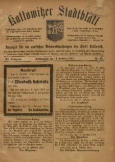 Kattowitzer Stadtblatt, 1918, Jg. 11, nr83