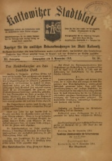 Kattowitzer Stadtblatt, 1918, Jg. 11, nr90