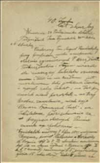 Brudnopis notatki o jubileuszu 40-lecia pracy podurzędnika Jana Wymetalika