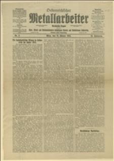 """""""Oesterreichischer Metallarbeiter..."""", R. 24, Nr 3, Wiedeń, 15.01.1914 r."""